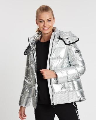 Calvin Klein Channel Quilt Hooded Jacket
