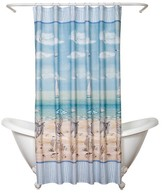 """India Ink Seaside Serenity Novelty Shower Curtain - Multi-Colored (70""""x72"""")"""