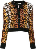 Love Moschino leopard print cardigan