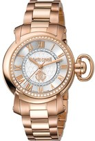 Roberto Cavalli Womens Rose Gold Watch With Silver Dial.