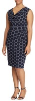 Lauren Ralph Lauren Plus Size Women's Dot Print Sheath Dress