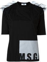MSGM ruffled shoulders T-shirt