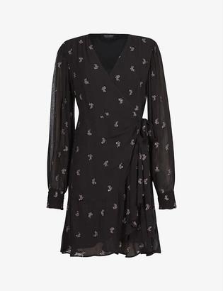 AllSaints Fina crepe mini dress