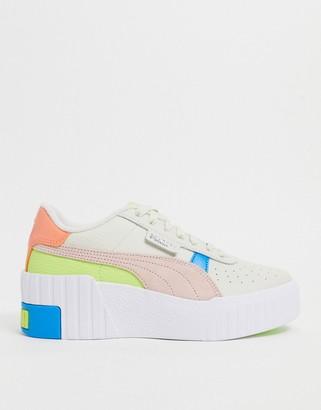 Puma Cali Wedge trainers in pastel