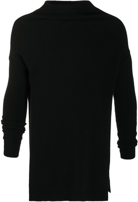 Rick Owens Funnel Neck Knitted Sweater
