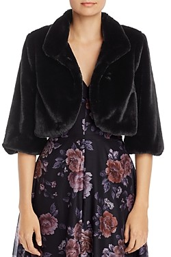 Laundry by Shelli Segal Faux Fur Shrug
