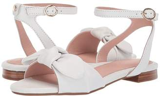 Taryn Rose Vivian (White Metallic Nappa) Women's Sandals