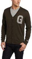 Generra Men's Letterman Cardigan Sweater