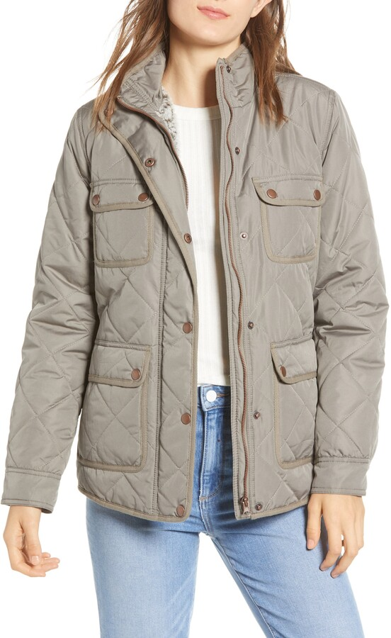 Thread & Supply Fleece Lined Quilted Utility Jacket