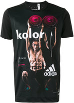 adidas printed short sleeve T-shirt - men - Polyester - M