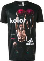 adidas printed short sleeve T-shirt - men - Polyester - S