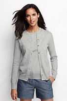 Classic Women's Supima Pointelle Cardigan Sweater-Jet Black