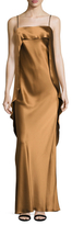 ABS by Allen Schwartz Draped Back Overlay Slip Dress