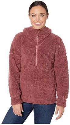 Prana Permafrost 1/2 Zip Hoodie (Brandy) Women's Sweatshirt