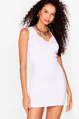 Nasty Gal Womens Notch So Fast Ribbed Mini Dress - White