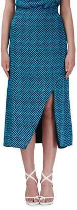 Olivia Rubin Stevie Striped Silk Pencil Skirt