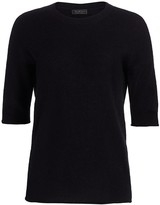Saks Fifth Avenue Cashmere Relaxed Featherweight Crew Sweater