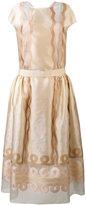 Fendi panel empire dress