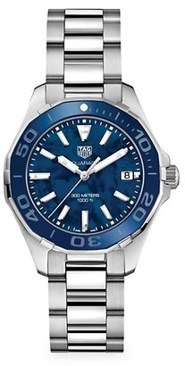 Tag Heuer Aquaracer 35MM Stainless Steel, Ceramic Mother-of-Pearl Quartz Bracelet Watch