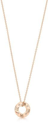 Tiffany & Co. Atlas pierced pendant in 18k rose gold with diamonds, small