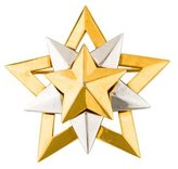 Givenchy Vintage Two-Tone Star Pin