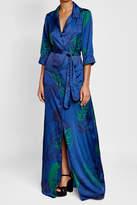 Borgo de Nor Printed Satin Dress