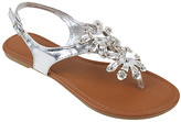 Star Bay Women's Sandals Silver - Silver Floral Sandal - Women