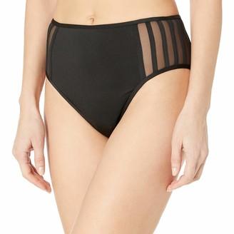 BCBGMAXAZRIA Women's Mid Waist Hipster Bikini Swimsuit Bottom