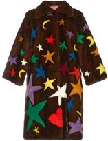 Gucci Symbol-intarsia mink-fur coat