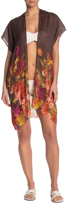 Pool To Party Wool Bloom Kimono Cover-Up