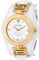 Versace Women's VLA010014 V-SIGNATURE Analog Display Swiss Quartz White Watch