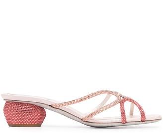 Rene Caovilla Arielle crystal-embellished sandals