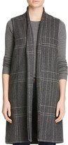 Eileen Fisher Petites Long Check Vest - 100% Bloomingdale's Exclusive