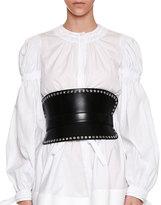 Alexander McQueen Grommet-Studded Corset Belt, Black