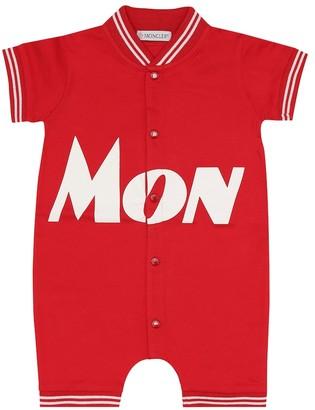 Moncler Enfant Baby stretch-cotton pique onesie