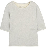 Current/Elliott The Painter Cotton-blend Terry Top - Light gray