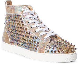 Christian Louboutin Orlato Flat Genuine Calf Hair High Top Sneaker