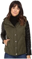 Blank NYC Puffy Jacket with Hood in Face to Face