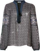 Ulla Johnson printed long sleeve blouse - women - Silk - 0