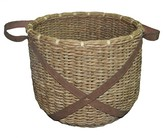 Threshold Basket with Leather Accents