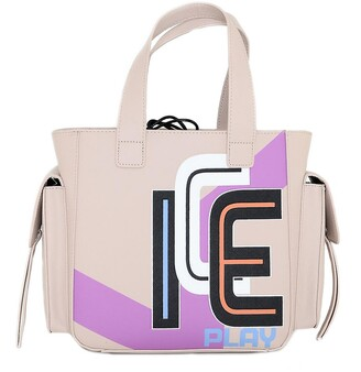 Ice Play Color Block Top-Handles Small Tote