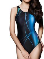 Olivia's Stylism Boutique PHINIKISS Women's Athletic Swimwear One Piece Stripe Floral Swimsuit