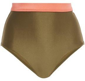 Zimmermann Separates Two-tone High-rise Bikini Briefs