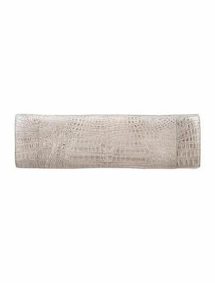 Nancy Gonzalez Crocodile Long Clutch Metallic