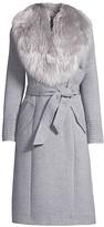Sentaler Fur Collar Alpaca-Blend Long Coat