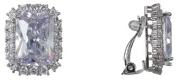 Nina Emerald-Cut Cubic Zirconia Clip-on Earrings