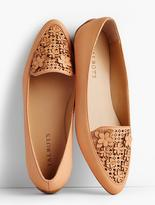 Talbots Francesca Flower-Topped Perforated Driving Flats