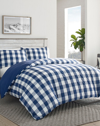 Eddie Bauer Lakehouse Plaid Blue Comforter Set