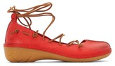 dkode Napea Leather Tie-Up Ballet Pumps