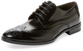 a. testoni Shell Calf Wingtip Derby Shoe